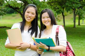 Portrait of asian students
