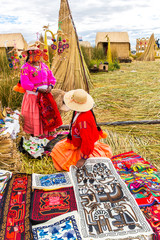 Souvenir on Floating islands Titicaca lake, Peru,South America
