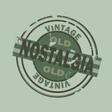 grunge nostalgia vintage stamp poster