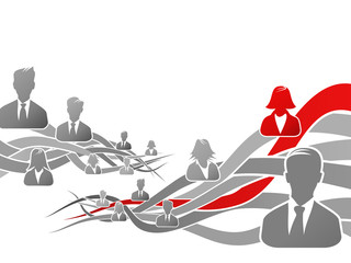 Abstract concept about career path vector illustration