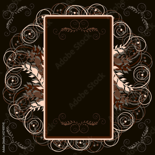 brown floral frame