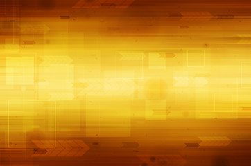 Abstract technology on yellow background.