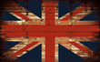 British Flag on Wood