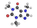 Molecular model of caffeine poster