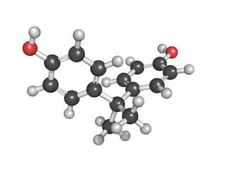 Bisphenol A. Molecular structure