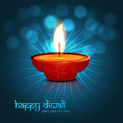 Beautiful vector colorful diwali background design illustration