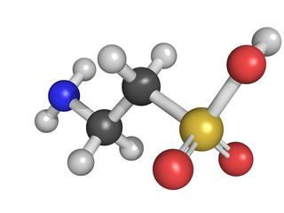 Taurine molecular model