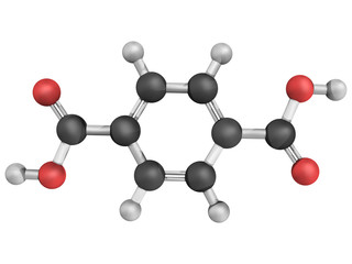Chemical structure of terephthalic acid