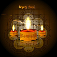 vector diwali bright colorful festival season background illustr