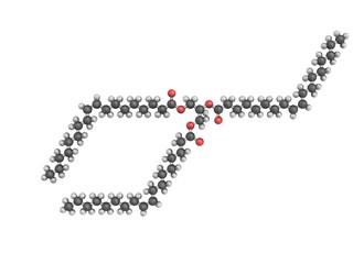 3d model of triolein molecule