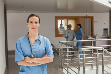 Doctor standing in the hallway