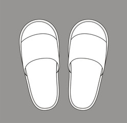 Vector illustration of home slippers
