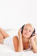 Portrait of a woman enjoying some music
