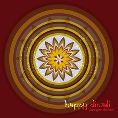 Diwali rangoli culture Art colorful ornament Pattern vector illu