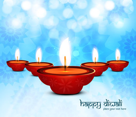 Beautiful colorful design diwali background vector