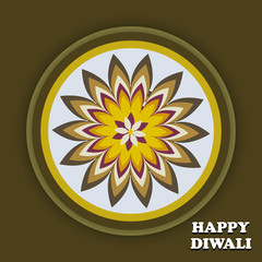 Beautiful creative Art colorful diwali rangoli ornament Pattern
