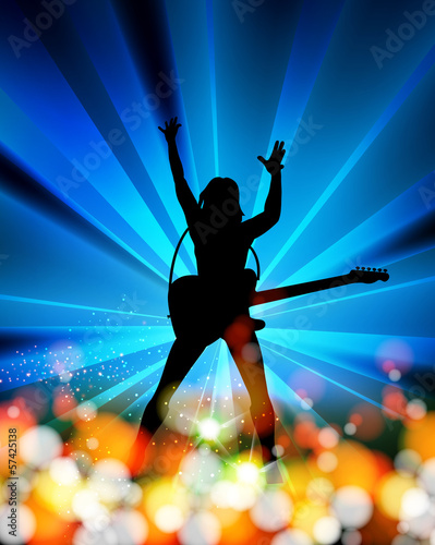 illustration of music,  abstract background