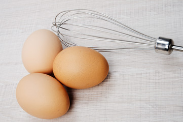 Eggs with whisk
