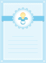 CUTE BABY BOY SHOWER CARD INVITATION