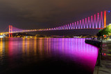 Purple Bosphorus Bridge