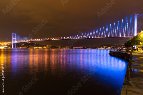 Blue Bosphorus Bridge