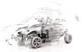 Fototapety Auto Trasparente, Componenti, progetto 3d, tuning, motori