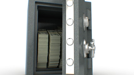 Dollars falling out from the Safe. HD 1080.