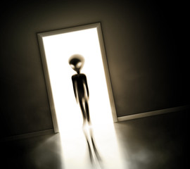 Alien at door