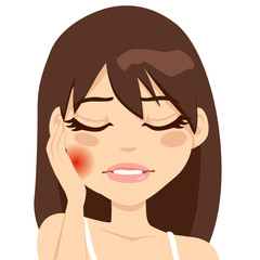 Woman Toothache Pain