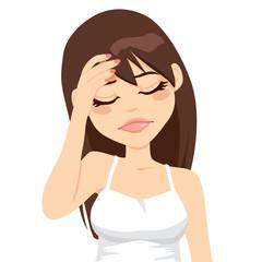Woman Painful Headache