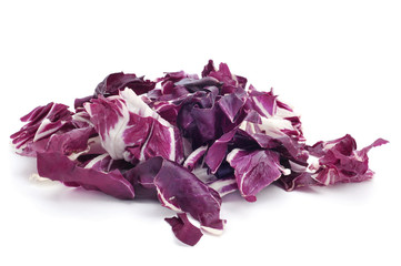 chopped radicchio leaves