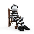 Illustration of a Prisoner in an Electric Chair