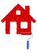 rotes Haus malen