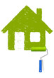 Grünes Haus malen