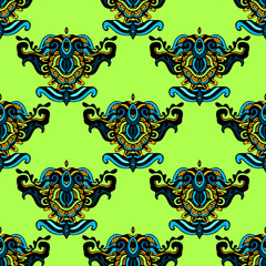 Ethnic seamless pattern motif vector