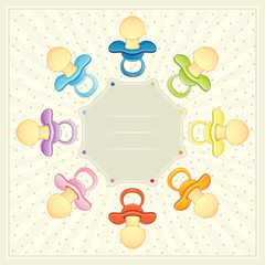 BABY PACIFIER ARRIVAL CARD