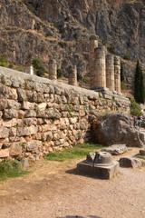 Дельфы. Фундамент храма Аполлона