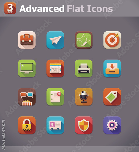 Vector flat UI icons