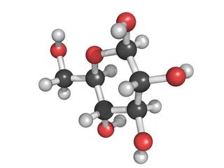 Glucose (beta-D-glucose, grape sugar, dextrose) molecule