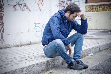 sad man street