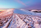 Winter mountains landscape at sunset - Slovakia - Fatra