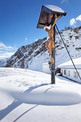 Gedenkkreuz auf der Hochalm, Alpen