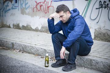 alcoholism man street