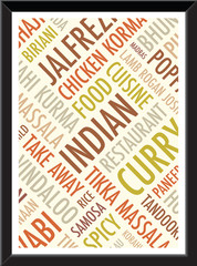 indian colourful a4 background picture frame