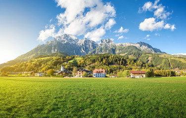 Mountain village in Austria, Leogang