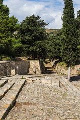 Stone-paved processional way, in Knossos, Crete