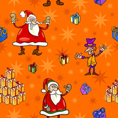 christmas cartoon seamless pattern paper