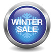 Blue winter sale button