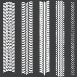 vector set of 5 white tire tracks