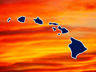 map hawaiian chain of islands